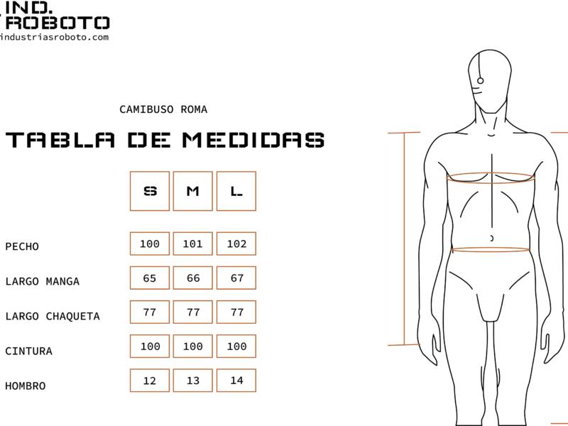 tabla de medidas CAMIBUSO ROMA
