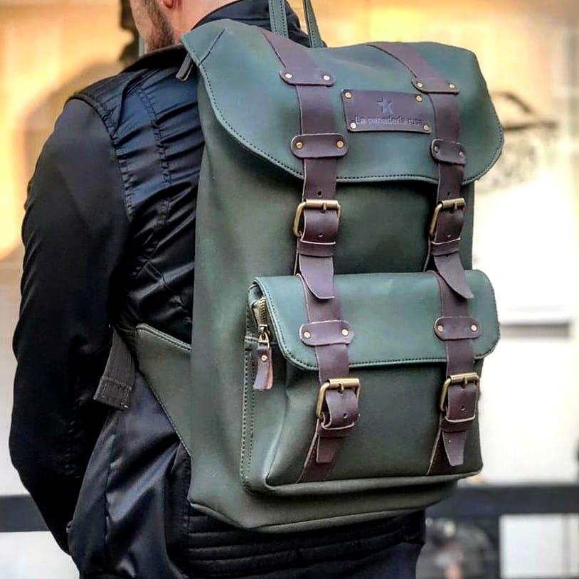 Bag 4 correas verde La Panaderia Rusa