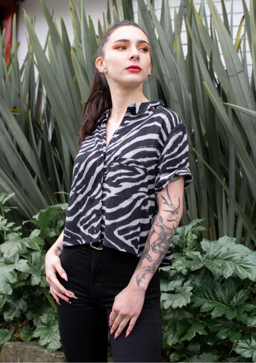 Camisa Cebra Mujer Industrias Roboto