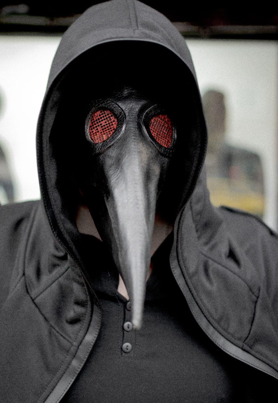 máscara bubonic black doctor