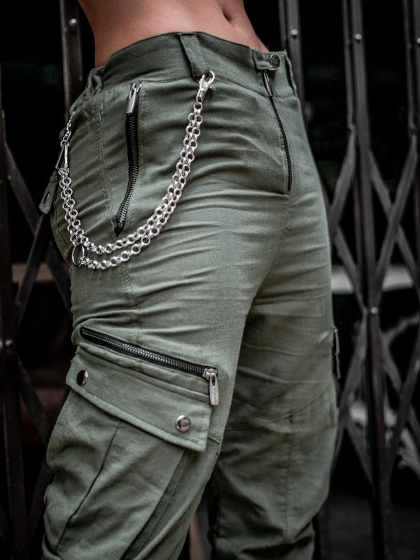 Pantalón Mujer Cargo Verde Industrias Roboto