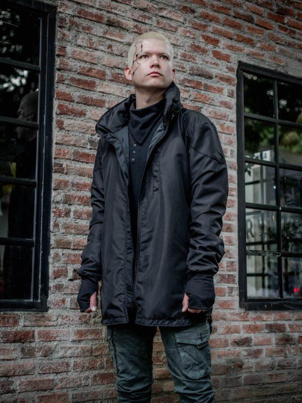 Suiza Rain Jacket Negra Hombre