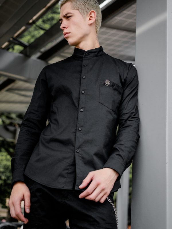 Camisa Black Basic Larga